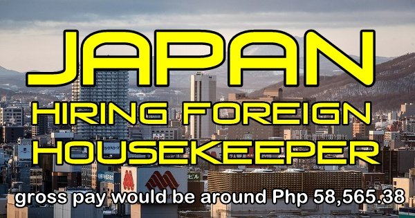 Hiring A Housekeeper japan to hire foreign housekeepers - ofw tambayan